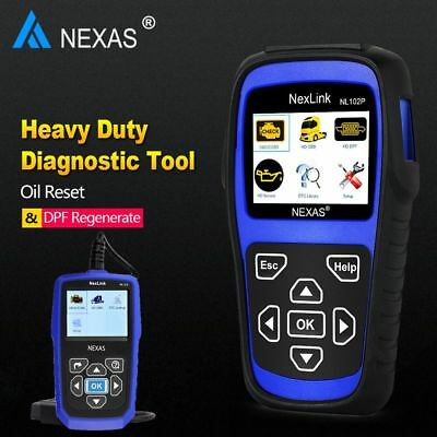 Heavy Duty Truck Diesel Gas Car Diagnostic Scanner ABS DPF Oil Reset Scan Tools