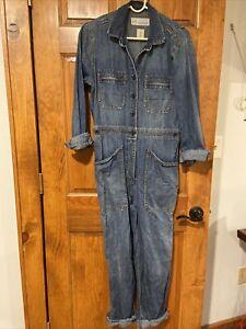 gap denim utility boilersuit jumpsuit size 6 fall winter jeans one piece Blue