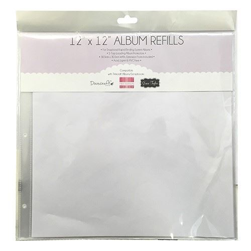 10 x Papermania Page Protectors Albums Refills Pack Square Shaped 30.5cmx30.5cm