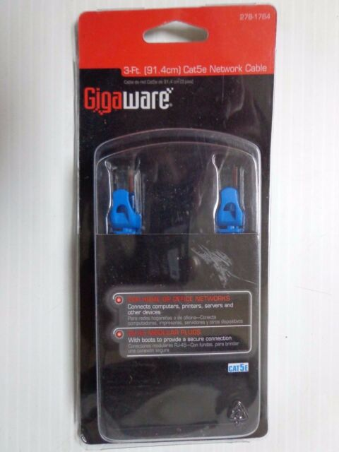 Gigaware 3-Ft 91.4cm) Cat5e Network Cable 278-1764  -11