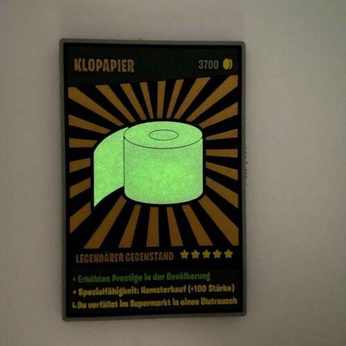 Klopapier Polizei Toiletten Legendärer Rubber Sammelpatch