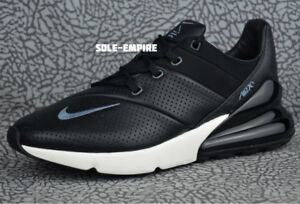Nike-Air-Max-270-Premium-Leather-AO8283-001-Men-039-s-NEW-IN-BOX-Black-Carbon-Sail