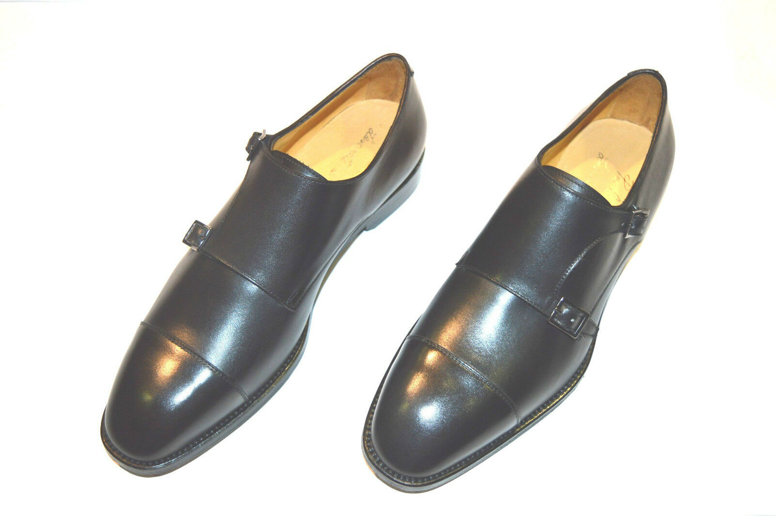 New PAOLO SCAFORA Leather Monk Strap shoes Size Size Size Eu 45.5 Uk 11.5 Us 12.5 (Cod 4) 8b0ade