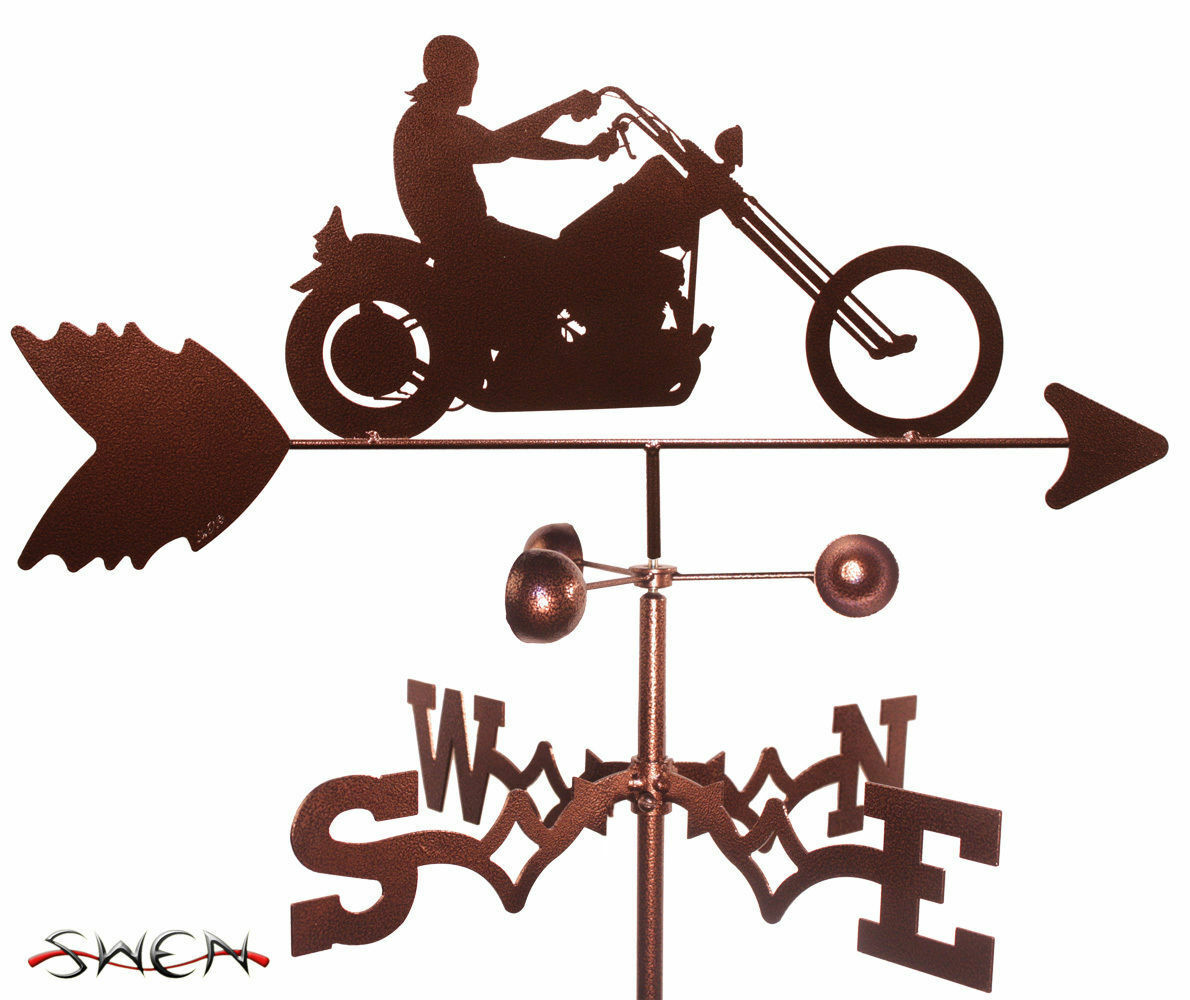 SWEN Products EASY RIDER MOTORCYCLE Steel Weathervane