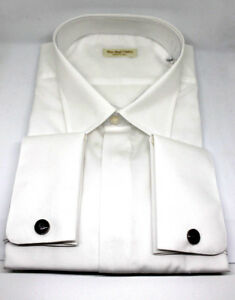 info for 80b98 72a20 Dettagli su Camicia uomo slim fit BIANCO cerimonia gemelli made in italy  shirt gemelli 245 C