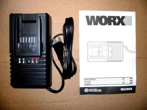 NEW WORX 20v Lithium FAST Battery Charger FOR WA3512 WA3520 WA3525 WA3575 WA3578