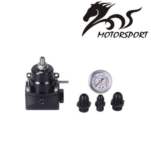 Universal Adjustable Fuel Pressure Regulator With Gauge
