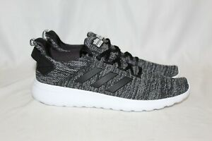 NEW-Adidas-Cloudfoam-Mens-Lite-Racer-Shoes-BYD-BLACK-GREY-Running-Shoes-Size-9