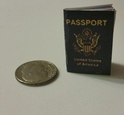 Miniature American Passport  GI Joe Action Figure Playscale Secret Agent David