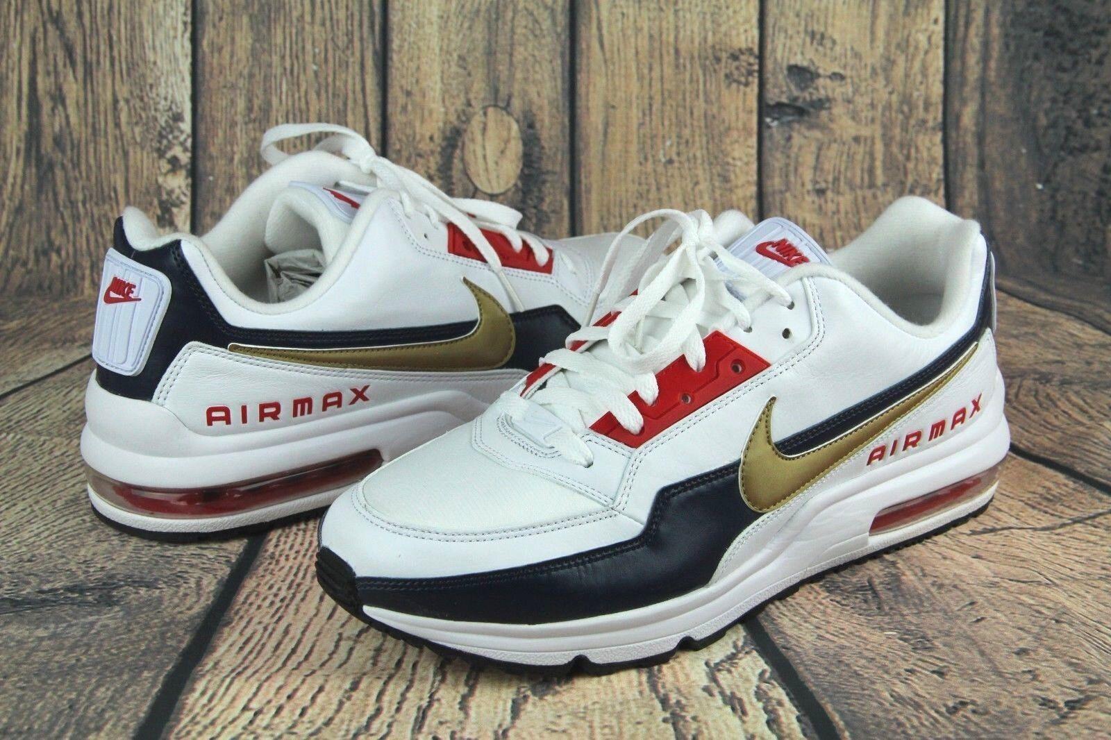 Nike Air Max LTD 3 Premium USA Olympics White/Gold Shoes 695484-186 Men's Sz * Seasonal clearance sale