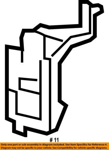 HONDA OEM Radiator Coolant-Recovery Overflow Tank Bracket 19115R40A00