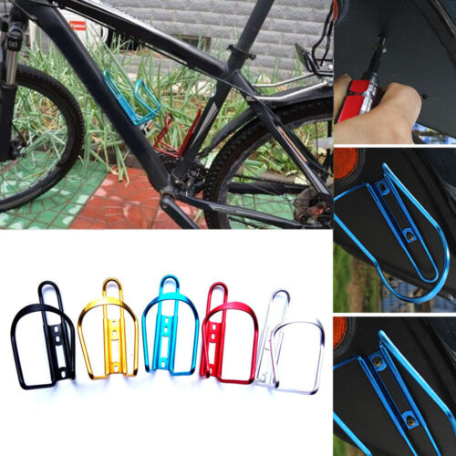 Al Alloy Bikes Bicycles Cycling Drink Water Bottle Rack Holder Cages Bracket LA