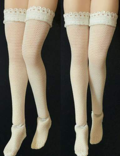 """1//12 Scale Female Lace White Silk Stockings Clother Fit 6/"""" TBLeague Body Figures"""