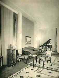 Details zu Lucien ROLLIN - SALON 2.Entwurf im ART DECO-Stil -  OriginalHeliotypie 1930