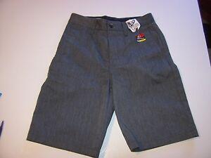 NEW Volcom Big Youth boys khaki dark heather gray chino shorts 6 or 10 VMONTY