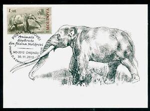 2010-Anancus-Elephant-Mastodon-Prehistoric-extincted-animal-Moldova-FDC-Maxicard