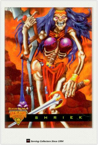 1995 Fleer Ultra Skeleton Warriors Cards Luma Bone Glow In The Dark No4