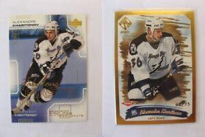 2000-01 UD Pros&Prospects #123 Kharitonov Alexander 0915/1000 RC  lightnings