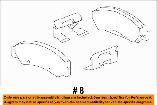 GM OEM Brake-Front-Brake Pads 84320501