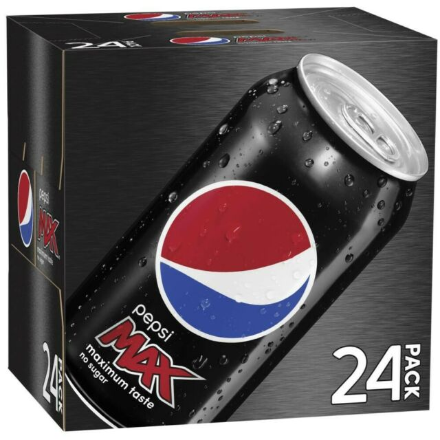 24Pc Schweppes Pepsi Max Carbonated Canned Soft Drink Refreshment 375mL