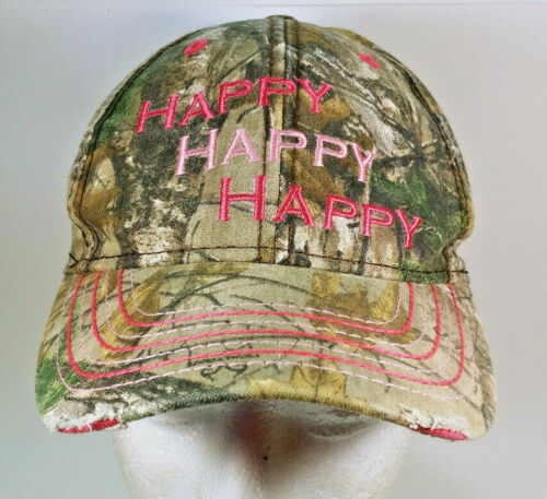 Duck Dynasty Happy Happy Happy Camo Pink Distresse