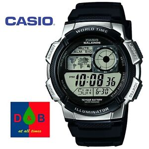 Casio-Men-039-s-AE-1000W-1A2VEF-Resin-Sports-World-Time-Watch-Black-Band-RRP-35-DEAL
