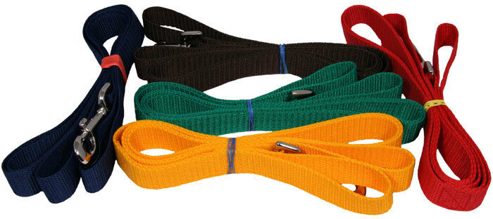 10 - Country Brook Design® 1 Inch Handmade Heavy Polypropylene Dog Leashes