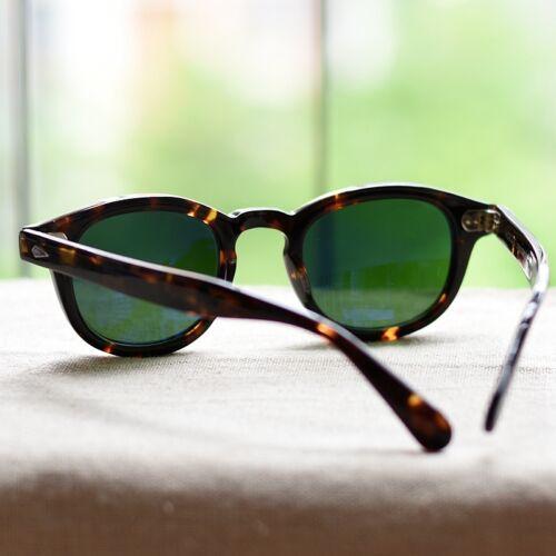 Johnny Depp sunglasses retro mens tortoise glasses green glass lens UV400 SMALL