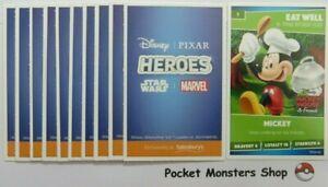 Full Box 180 Sealed Packs Of Sainsburys Disney Heroes Cards 720 Cards In Total