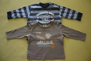 PAPAGINO-Kinder-langarm-T-Shirt-Shirt-2-tlg-Set-BAUMWOLLE-Gr-74-80