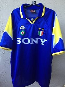 official photos c69c7 a8189 Details about 1995-1996 KAPPA JUVENTUS JUVE BIANCONERI ZEBRE MAGLIA AWAY  SONY JERSEY SZ XO