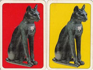 Vintage-Swap-Playing-Card-2-SINGLE-PIATNIKS-CATS