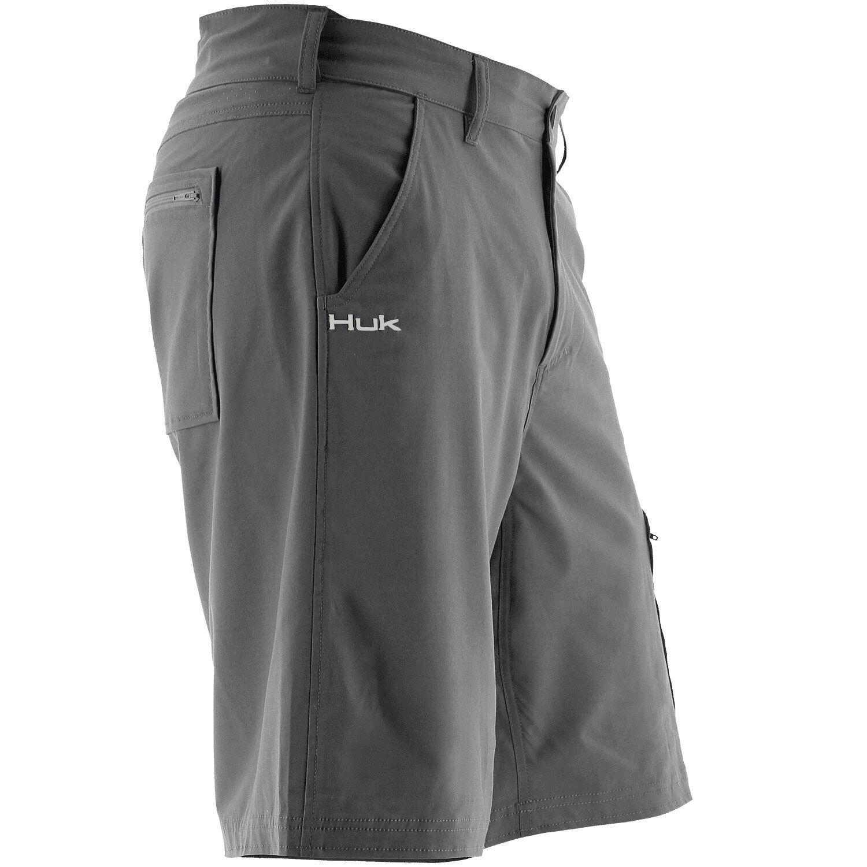 Huk H2000011 10.5   siguiente nivel SPF 30 Secado Rápido Pesca Pantalones Cortos gris Cochebón M  artículos de promoción