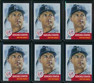2018-Topps-Living-Set-Giancarlo-Stanton-6-Card-Lot-58-New-York-Yankees