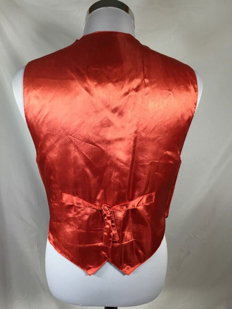 RED Leather Vest Mona Mode Mode Mode Size Small S e43855