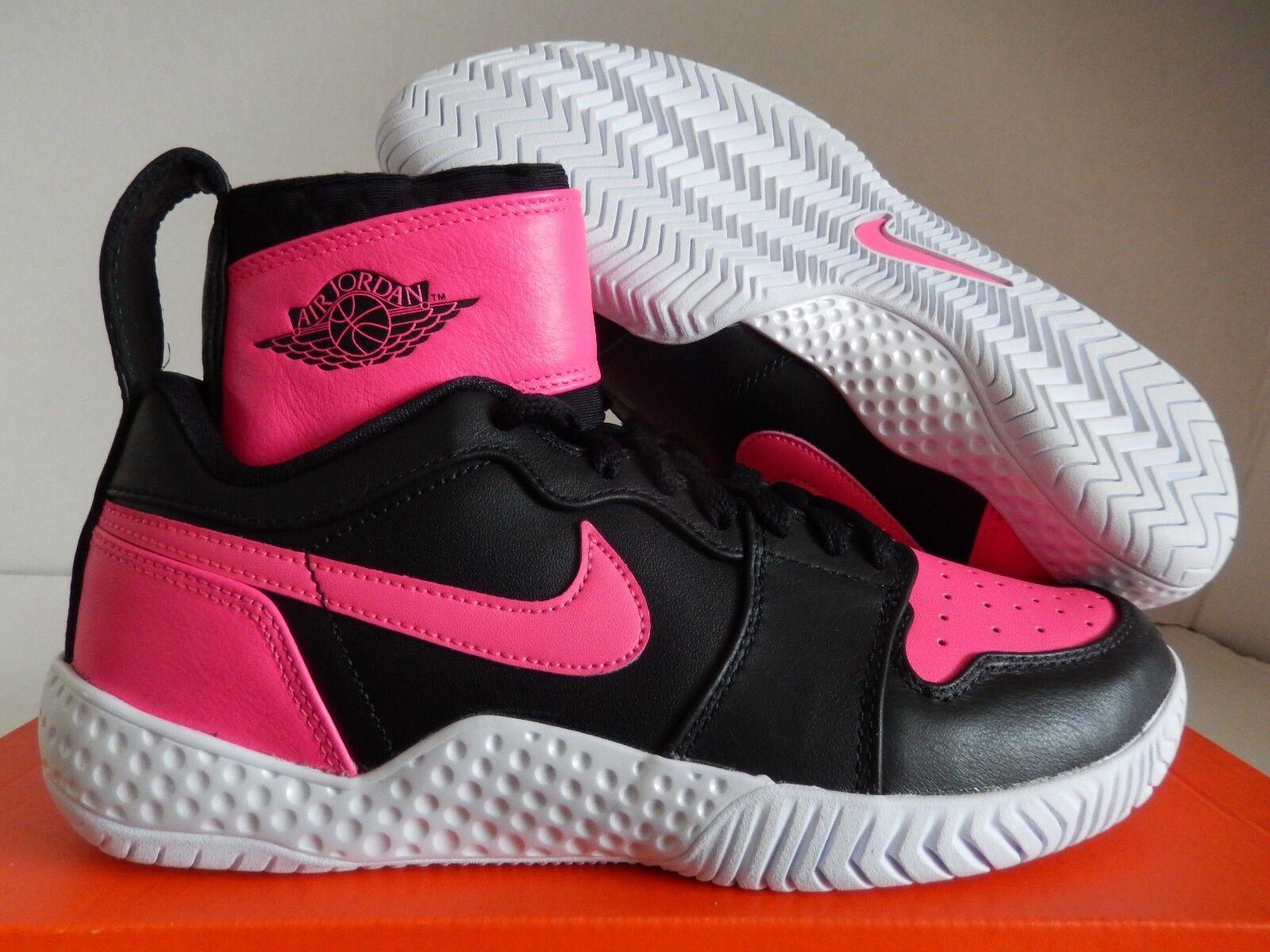 Nike FLARE grandes Qs AJ1 Jordan Serena Serena Serena Williams NEGRO-HYPER rosado Talla 6.5  venta al por mayor barato