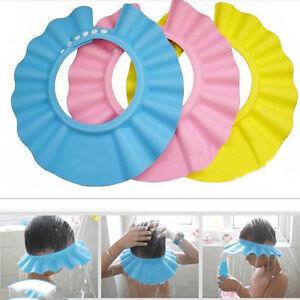 Adjustable-Baby-Kids-Shampoo-Bath-Bathing-Shower-Cap-Hat-Wash-Hair-Shield-QW-cri