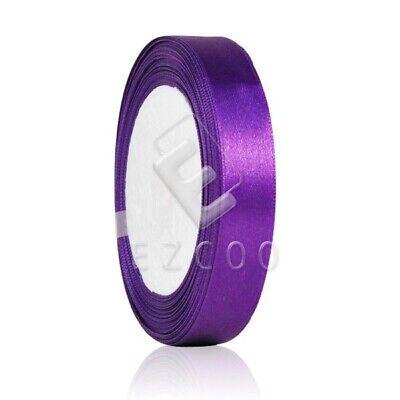 "25 Yards 1/""25mm Satin Ribbon Craft Bow Wedding Party Decoration Regal Purple CA"