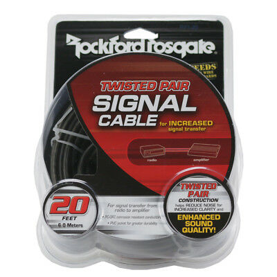 NEW Rockford Fosgate RFI-16 16 Foot Twisted RCA Signal Cable OFC Platinum Plated