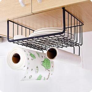 Under Shelf Basket Wire Wrap Rack Storage Organizer for Kitchen Bathroom Pantry