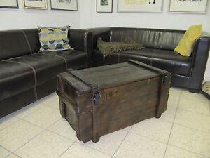 holzkiste shabby chick vintage m bel truhe tisch couchtisch tisch weinkiste ddr ebay. Black Bedroom Furniture Sets. Home Design Ideas