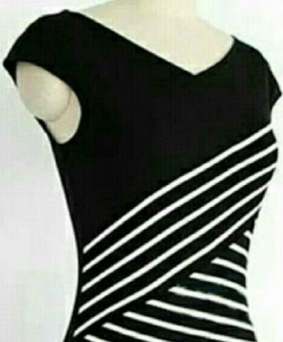 Black and White Bodycon Dress Small