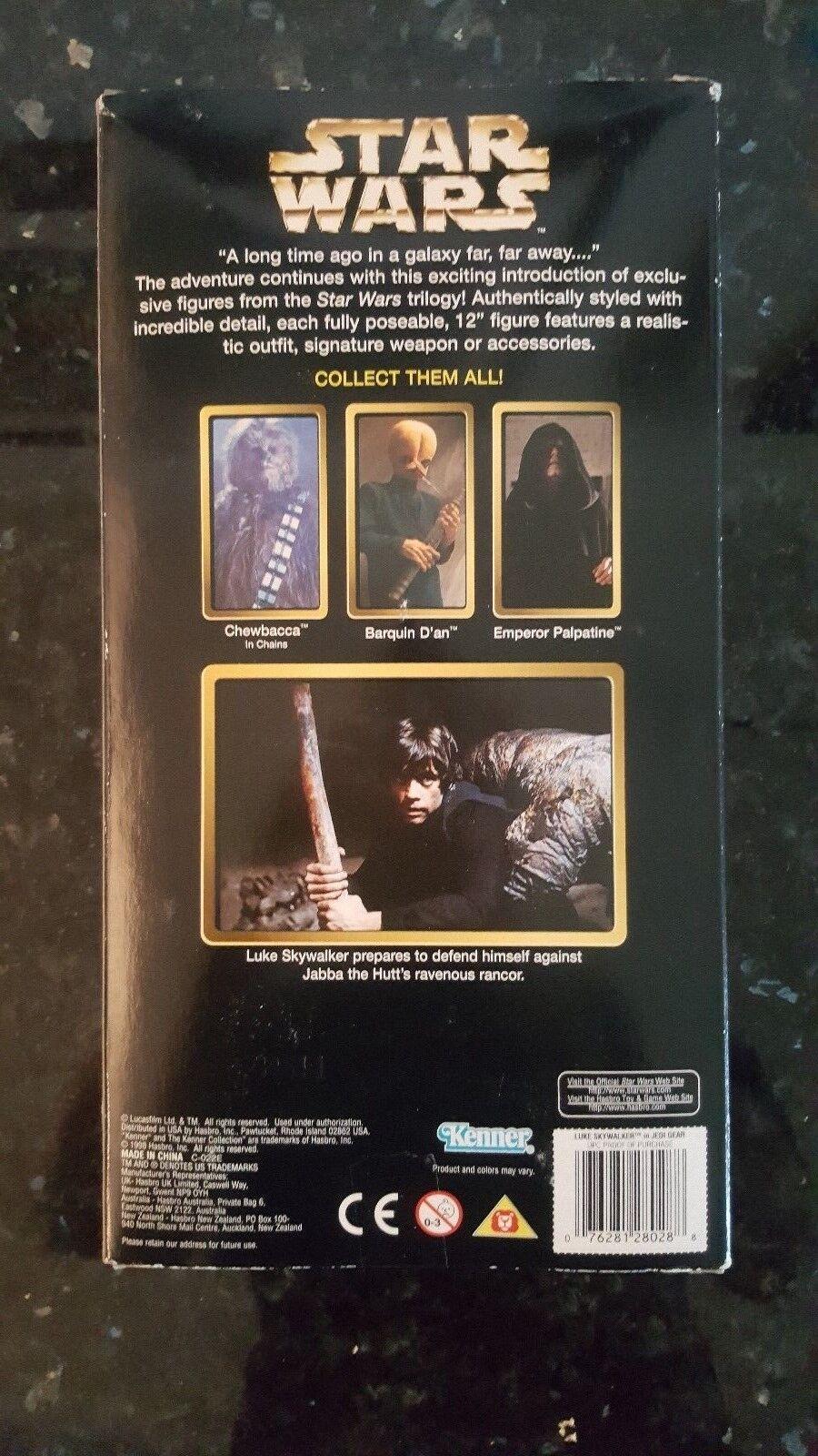 1998 1998 1998 Kenner Collectors Series 12  Luke Skywalker In Jedi Gear w  Glow Lightsaber 512fb9