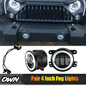 4-034-Inch-LED-Fog-Light-Lamp-For-09-14-Dodge-Journey-Charger-Jeep-Wrangler-JK