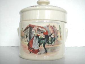 * Terrine Pot A Pate Ou Foie Gras En Sarreguemines Obernai Alsace Diversifié Dans L'Emballage