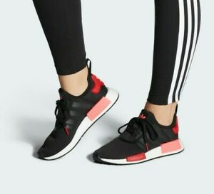 Details about ADIDAS NMD R1 BOOST BLACK SCARLET/ FLASH RED EH0206 WOMEN'S RUNNING SHOES