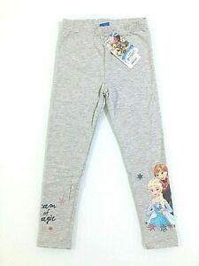 Disney Frozen 2  leggins lunghi caldo cotone bambina 100% cotone 3-8 anni grigio