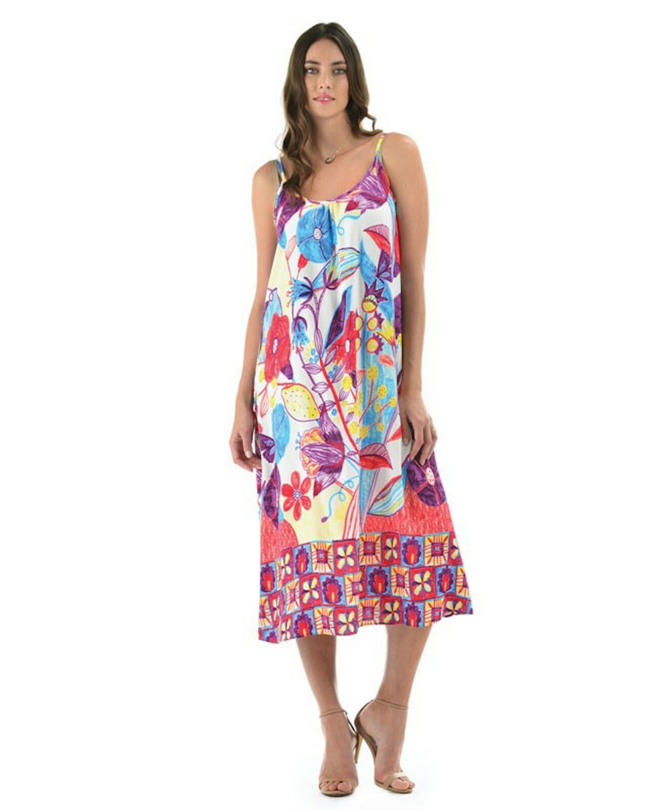 nyA Jams värld Ariana Dress Trinity Hawaiian Print Sundress XL Made in USA