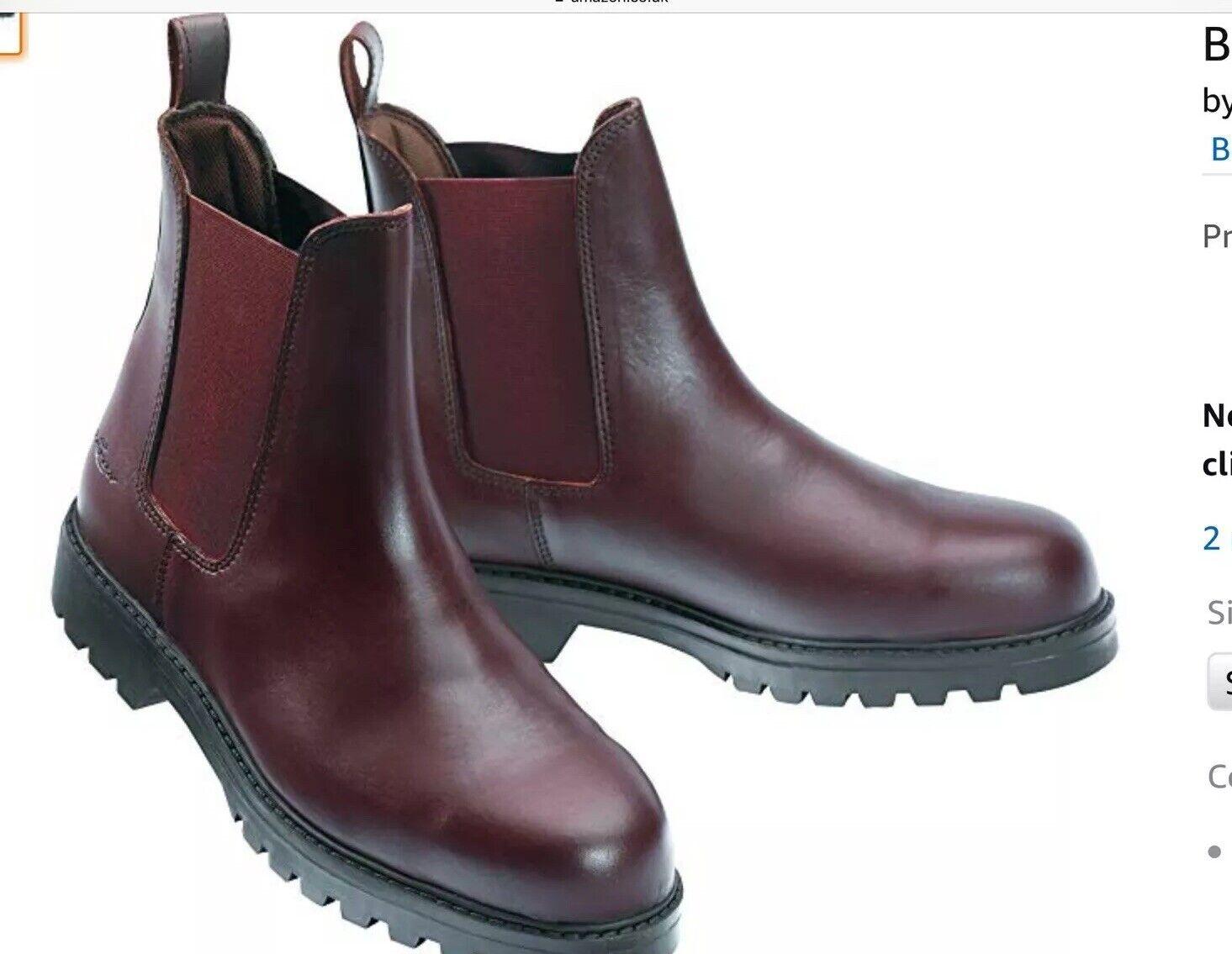 Brown Leather Norton Steel Toe Safety Jodphur Boots Size 7 Euro