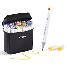 60 Color Touch Alcohol Art Dual Tip Sketch Pen Art Sketch Twin Marker w/ Case